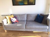 Ikea Karlstad Lounge Suite - (3 Seat Sofa and Armchair)
