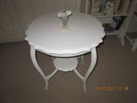 OCCASIONAL TABLE PAINTED LAURA ASHLEY COUNTRY WHITE