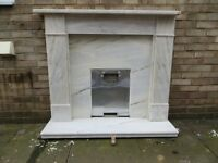 Grade A Natural marble fire surround with a light beige vein.