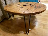Large Cable Reel Coffee Table