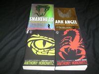 6 ANTHONY HOROWITZ BOOKS SNAKEHEAD, ARK ANGEL, CROCODILE TEARS, SCORPIA RISING