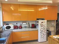 Retro Orange Kitchen Doors - Wrighton