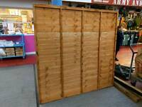 Two 6ft fence panels with posts