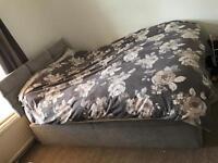 Lovely kingside bed & mattress