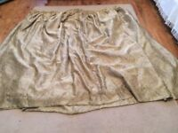 Gold fully lined curtains ONLY £30 good condition