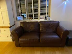 3 Seater Leather Settee and matching Armchair