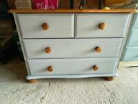 Upcycled pine chest of draws