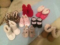 Baby girl 0-3mth coats and shoe bundle