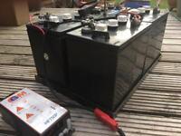 Solar panel battery storage