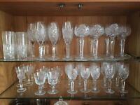 Various Crystal glasses