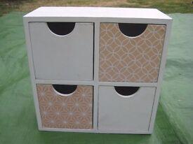 Livarno Mini Wooden Table Top 4- Drawer Set