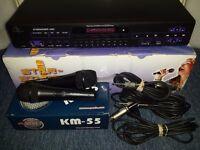Karaoke machine and 2 x microphones Professional