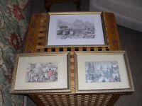 Three Anton Pieck framed and glazed prints.