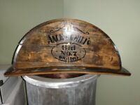 Handmade oak barrel mantle clocks