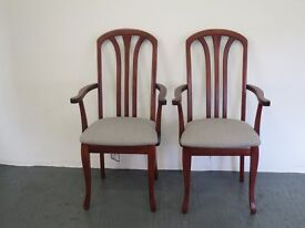 Pair of Mahogany Aaran Carver Chairs from Nathan Furniture