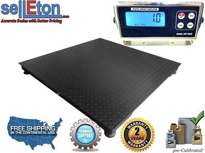 Floor Scales 5 X 5 Pallet Size Rs-232 Port Digital Indicator 5000 Lbs X 1 Lb