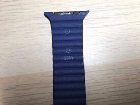 Genuine Blue Leather Strap/ Band for Apple Watch 42mm (Large) - RRP £149