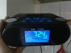 Hitachi DAB Digital Stereo clock radio with charger