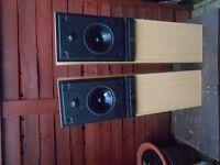 pair of hi fi speakers.mordaunt-short,ms 25 i .
