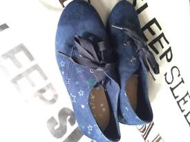 Next girls star shoes size 10