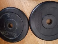 4x5kg rubber coated metal plates