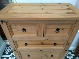 Great big mexican pine chest of drawers