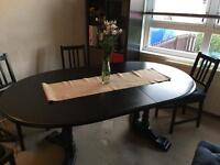 Extendable oval dining table (REDUCED to sell this weekend!)
