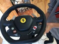 Xbox 360 thrustmaster 458 Ferrari italia steering wheel