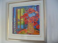 Genuine Large Simon Bull Framed Limited Edition Art ''Some Sweet Ocean'' Painting