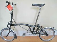Near new Bespoked Brompton M3L Folding Bike With Accessories