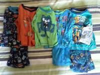 Boys nightwear and vests