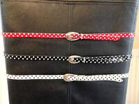 "Polka Dot Belt Bundle - 3 belts all 40"" long - BRAND NEW!!!!"