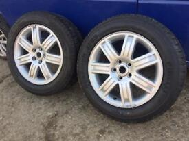 2 Range Rover Vogue Alloy Wheels Pirelli Scorpion Tyres
