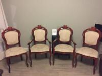 French Louis Chairs including 2 Carvers