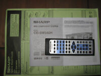 Sharp CD- SW340H Component System -5 CD Changer/Radio/Twin Tape -Speakers & Sub Woofer -520W