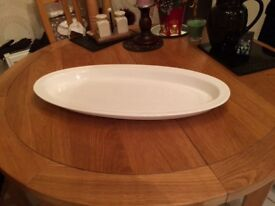 Large white oval plate