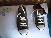 Converse khaki/brown colour trainers - (brand new, size UK 2)