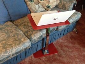 Red glass laptop stand/table