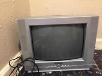 free potable tv old style with back