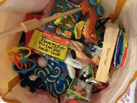 bag of good condition assorted baby toys