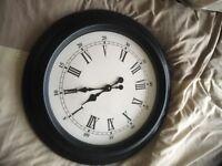 Wall clock retro black