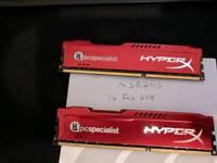 2x 8 gb (16gb) DDR 3 1600 mhz