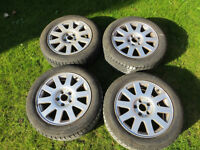 "AUDI SKODA VW alloy wheels 16"" with Michelin winter tyres"