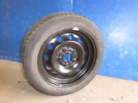 Bargain BMW 1 Series new full size steel spare wheel with part worn Kleber Quadraxer 205 55 16 tyre