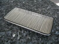Black and White Stripe Tray / Dish - Set of 2 -IB Laursen Casablanca Danish Design *NEW WITH LABELS*