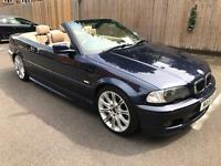 2001 BMW 330CI M-SPORT AUTO CONVERTIBLE BLUE - WITH HARDTOP