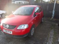 VW FOX 2009 ONLY 80000 MILES RUNS AND DRIVES HAS SLIGHT MISSFIRE GIVE AWAY BARGAIN NO OFFERS