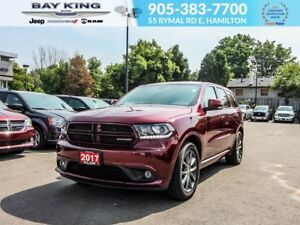 2017 Dodge Durango GT AWD, SAFETY GROUP, REMOTE START, BACKUP CA