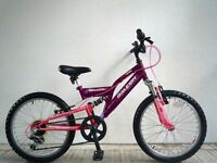 "(1502) 20"" 12"" RALEIGH MISSION GIRLS KIDS CHILD MOUNTAIN BIKE BICYCLE Age: 7-10; Height:125-140 cm"