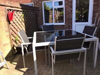 Large Garden Table with 4 Chairs